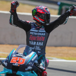 Fabio Quartararo earned his first MotoGP victory on Sunday in Spain. (MotoGP Photo)