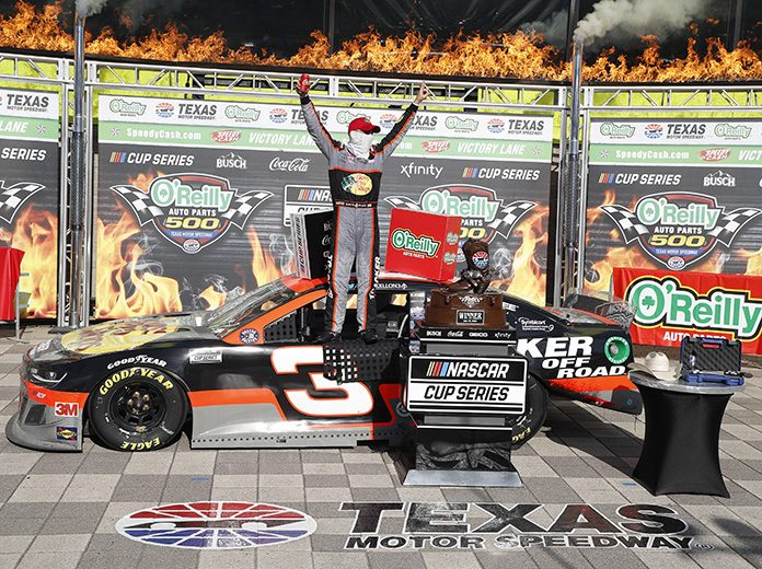 NASCAR's Austin Dillon, Tyler Reddick finish 1-2 at Texas Motor Speedway