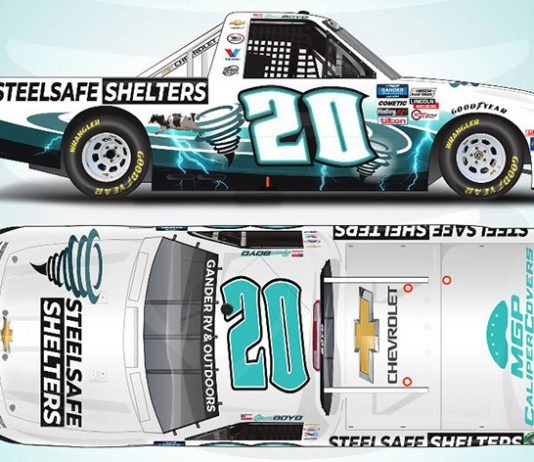 Spencer Boyd will have sponsorship from SteelSafe Shelters this weekend at Kansas Speedway.