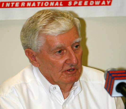 Bob Bahre, the founder of New Hampshire Motor Speedway, has died at the age of 93. (Rusty Jarrett/Getty Images for NASCAR)