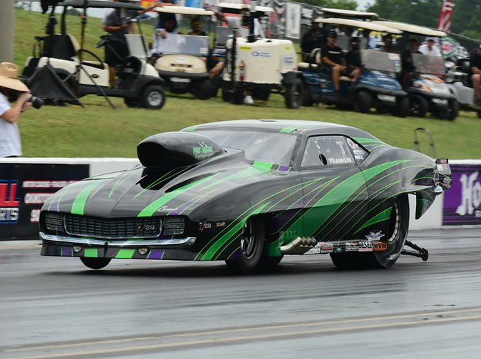 Tommy Franklin was fastest in PDRA Pro Boost qualifying on Friday at Virginia Motorsports Park. (Roger Richards Photo)