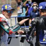 Fabio Quartararo (left) earned his second-straight pole to open the MotoGP season on Saturday. (MotoGP Photo)