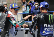 Fabio Quartararo (left) earned his second-straight pole to open the MotoGP season on Saturday. (MotoGP Photo)