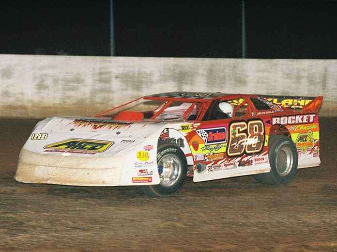 Tim Hitt, the first Rocket Chassis house car driver, passed away Friday at the age of 55. (Rick Schwallie Photo)