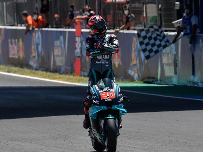 Fabio Quarataro earned his second-straight MotoGP victory Sunday in Spain. (MotoGP Photo)