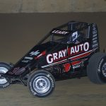 C.J. Leary raced to his second-straight Indiana Sprint Week victory Sunday at Lawrenceburg Speedway. (Neil Cavanah Photo)