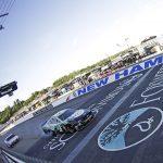 Kevin Harvick beats Denny Hamlin to the finish line to win the 2019 Foxwoods Resort Casino 301 at New Hampshire Motor Speedway. (HHP/Alan Marler Photo)
