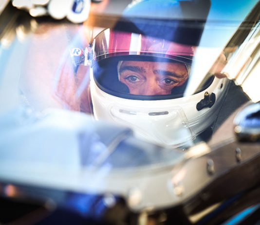 Jimmie Johnson turned his first laps in an Indy car Tuesday at Indianapolis Motor Speedway. (IndyCar Photo)
