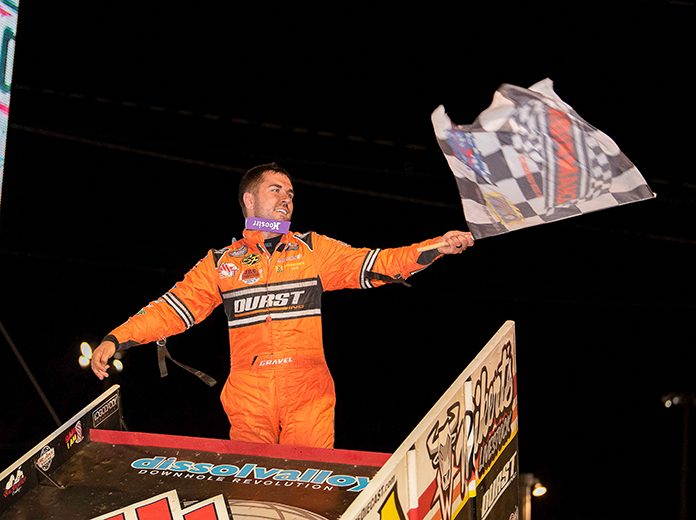 David Gravel dominated the Drydene 40 at Lincoln Speedway on Wednesday night. (Shawn Cooper Photo)