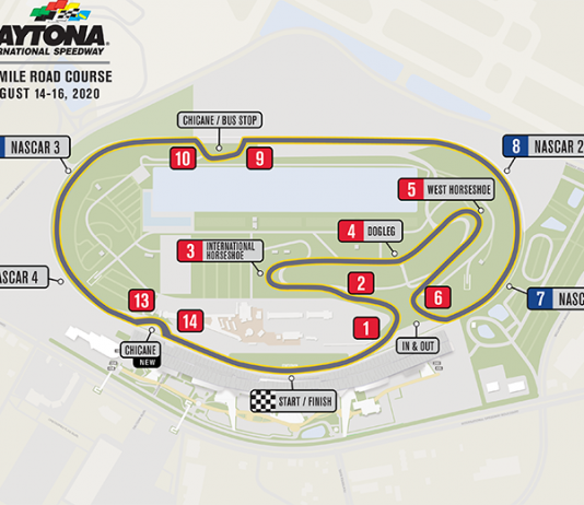 NASCAR has announced the addition of a chicane to the Daytona Road Course in advance of NASCAR's debut on the circuit in August.