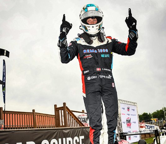 Christian Rasmussen completed a tripleheader sweep of the USF2000 events at the Mid-Ohio Sports Car Course on Thursday.