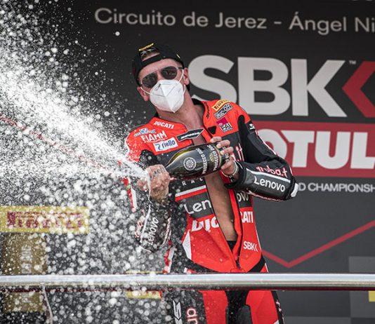 Scott Redding earned his first World Superbike victory Saturday at Circuito de Jerez - Angel Nieto. (Ducati Photo)