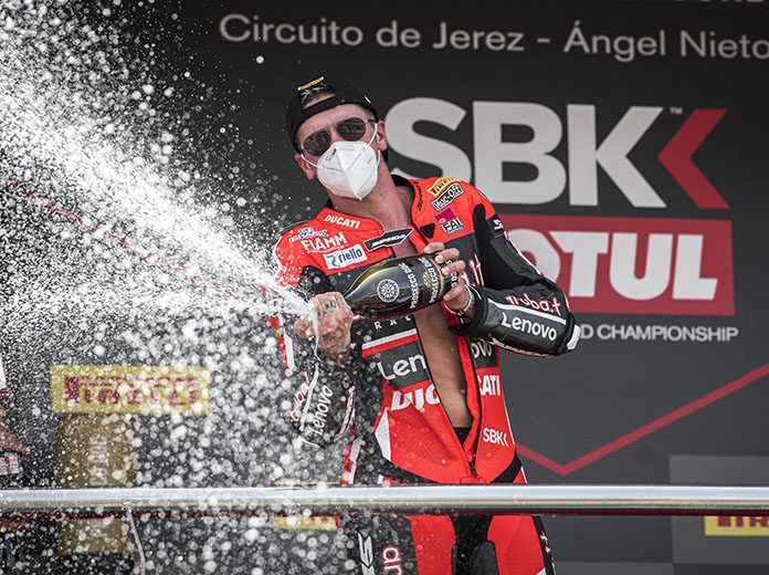 Scott Redding earned his first World Superbike victory Saturday at Circuito de Jerez - Angel Nieto. (Ducati Photo)