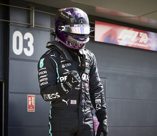 Lewis Hamilton claimed the pole for the British Grand Prix on Saturday at the Silverstone Circuit. (Steve Etherington Photo)