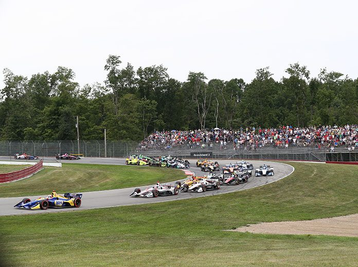 The upcoming NTT IndyCar Series events at the Mid-Ohio Sports Car Course have been postponed. (IndyCar Photo)