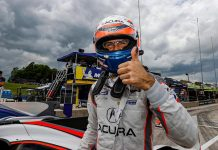 Ricky Taylor put his Acura Team Penske Acura ARX-05 DPi on the pole for Sunday's IMSA WeatherTech SportsCar Championship event at Road America. (IMSA Photo)