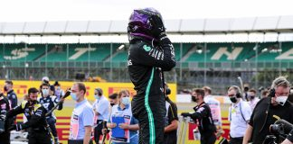 Lewis Hamilton emerges from his car after winning Sunday's British Grand Prix. (LAT Images Photo)