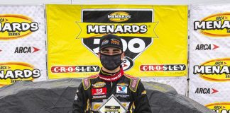 Sam Mayer swept both ARCA Menards Series races at Toledo Speedway following a win on Sunday afternoon. (Nic Antaya/ARCA Racing Photo)