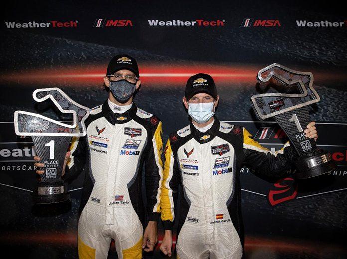 Jordan Taylor (left) and Antonio Garcia (right) continued Corvette's winning ways Sunday at Road America. (IMSA Photo)