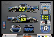 Brett Moffitt will honor Jimmie Johnson with a throwback scheme during the NASCAR Gander RV & Outdoors Truck Series finale at Phoenix Raceway in November.