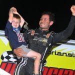Kyle Larson victory lane (Dan Demarco Photo)