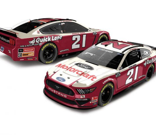 Matt DiBenedetto will drive the No. 21 Ford with a scheme similar to the one Wood Brothers Racing campaigned in 1963.