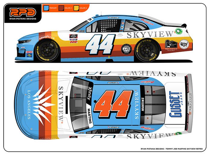 Tommy Joe Martins' car will feature a throwback scheme this weekend at Road America.