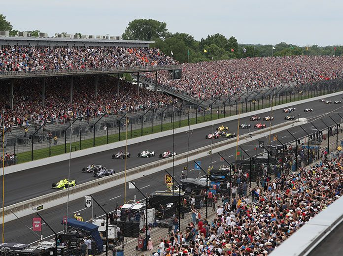 There will be no fans in the grandstands for the 2020 edition of the Indianapolis 500 at Indianapolis Motor Speedway later this month. (IMS Photo)