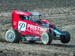 Kyle Larson on the gas during Indiana Midget Week. (Randy Crist Photo)