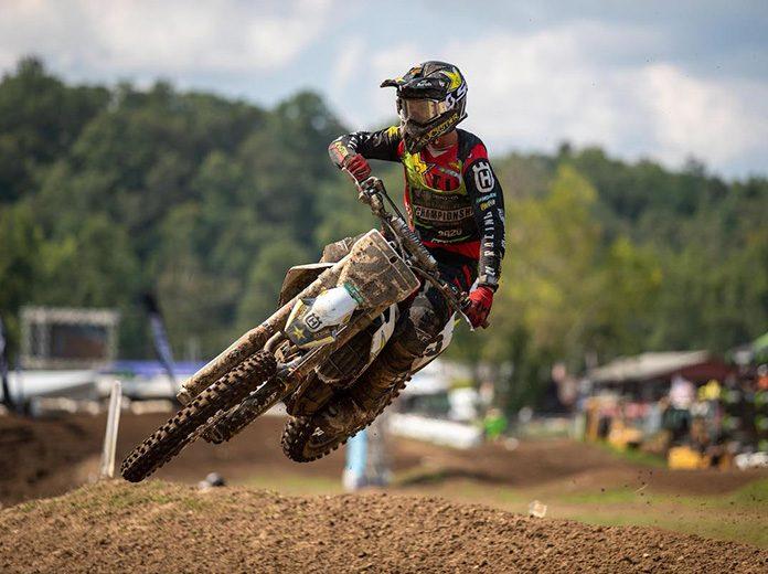 Stilez Robertson emerged triumphant in the second 250 Pro Sport moto on Wednesday. (Derek Garcia Photo)