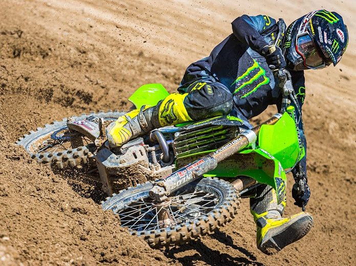 Mitchell Harrison and Darian Sanayei will ride for the Monster Energy/Pro Circuit/Kawasaki team in 250 class competition during the AMA Pro Motocross Championship season. (Trevor Nelson Photo)