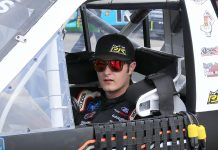 Spencer Davis will sit out Friday's NASCAR Gander RV & Outdoors Truck Series race at Michigan Int'l Speedway following a positive COVID-19 test. (HHP/Jim Fluharty Photo)