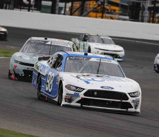 Chase Briscoe has relied on perseverance this year to earn five victories in the NASCAR Xfinity Series this year. (HHP/Andrew Coppley Photo)