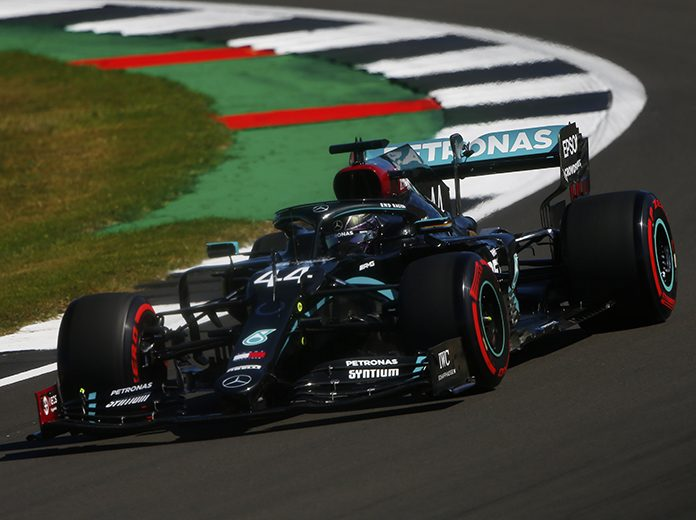 Lewis Hamilton was fastest in Formula One practice Friday at the Silverstone Circuit. (LAT Images Photo)