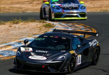 Michael Cooper rolled to the Pro victory in Friday's Pirelli GT4 Sprint event at Sonoma Raceway.