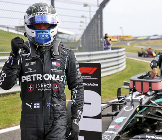 Valtteri Bottas earned the pole for the 70th Anniversary Grand Prix at the Silverstone Circuit on Saturday. (LAT Images Photo)