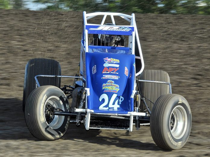 Shane Cottle won Friday's non-winged sprint car feature at Gas City I-69 Speedway. (Randy Crist Photo)