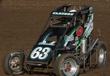 Bryan Clauson in a midget. (Brendon Bauman Photo)