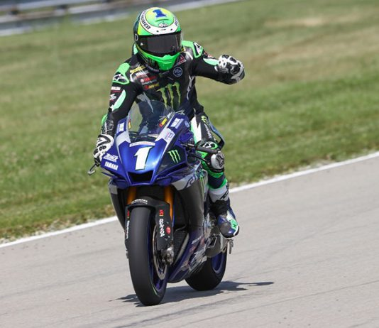 Cameron Beaubier dominated Saturday's MotoAmerica Superbike race at the Pittsburgh International Race Complex. (Brian J. Nelson Photo)
