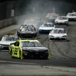 Austin Cindric leads the pack Saturday at Road America. (Stacy Revere/Getty Images Photo)