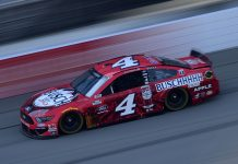 Kevin Harvick raced to his fifth NASCAR Cup Series triumph of the season Saturday at Michigan Int'l Speedway. (Jared C. Tilton/Getty Images Photo)