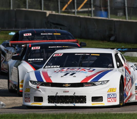 Mike Skeen topped Saturday's Trans-Am Series TA2 event at Road America.