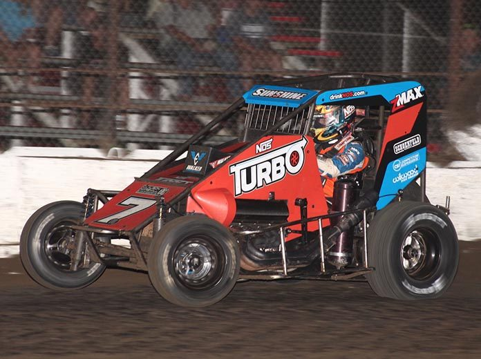 Tyler Courtney has found his stride recently in USAC NOS Energy Drink National Midget Series competition. (Richard Bales Photo)