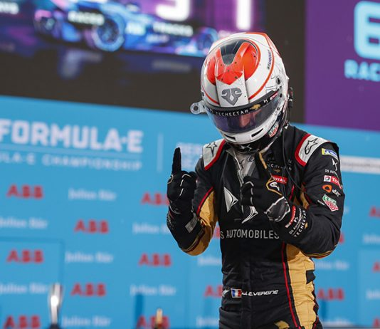 Jean-Eric Vergne won Sunday's Formula E event in Berlin. (Sam Bloxham / LAT Images Photo)