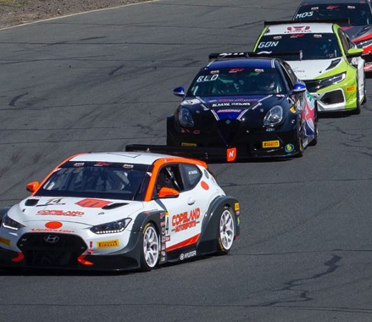 Tyler Maxson (74) leads the TC America field Sunday at Sonoma Raceway.