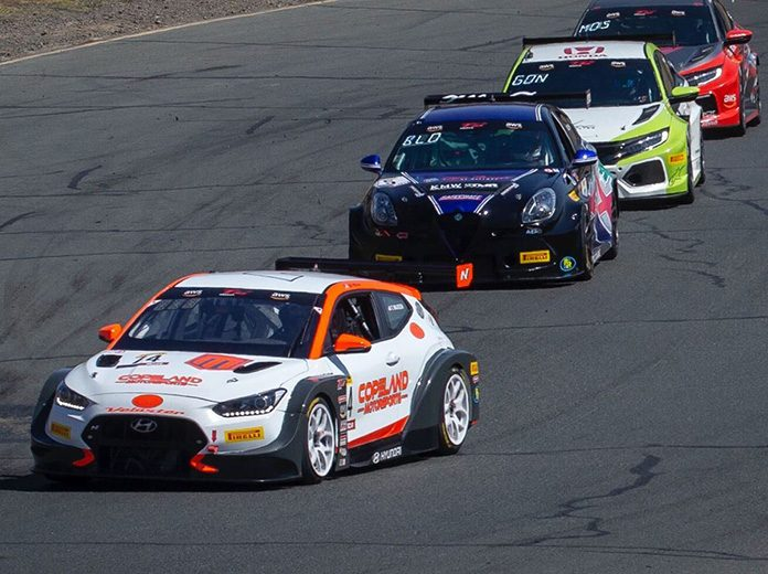 Tyler Maxson (74) leads the TC America field Sunday at Sonoma Raceway.