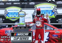 Harvick Completes Michigan