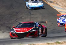 Shelby Blackstock and Trent Hindman drove the Racers Edge Motorsports Acura NSX to victory Sunday afternoon at Sonoma Raceway.