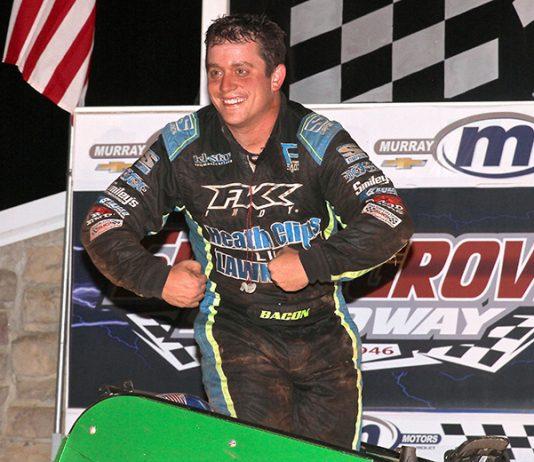 Brady Bacon won Sunday's Rapid Tire USAC East Coast Sprint Car Series event at Selinsgrove Speedway. (Dan Demarco Photo)