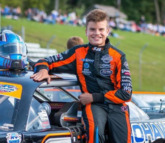 Treyten Lapcevich will drive in place of Alex Tagliani during Saturday's NASCAR Pinty's Series event at Sunset Speedway.